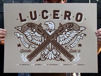 Lucero Florida Tour Poster Printed.