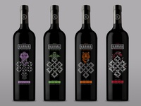 Karma Vineyards Eternal Knot Printed Wine Bottles