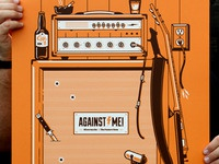 Against Me! Gig Poster Print