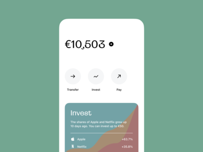 Bank's app amount invest monzo revolut fintech finance clean mobile app ui ux ios banking app bank
