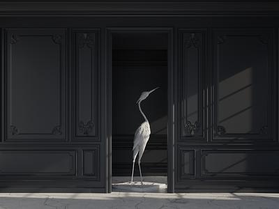 The Heron render cycles blender3d 3d art 3d