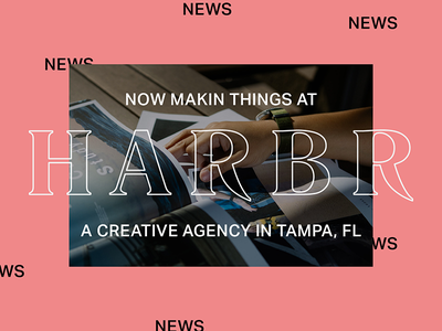 Joining the fine crew at Harbr wow digital agency harbr news job new