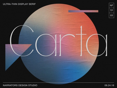 NF Carta Now Available hairline thin new font typeface design serifs serif fonts font typeface type