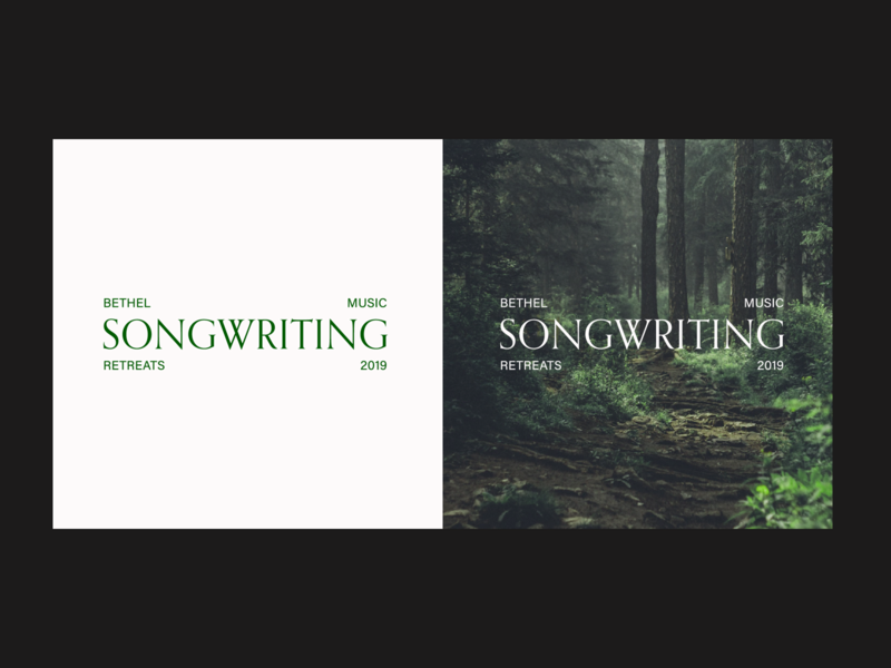 Bethel Music Retreats - Songwriting Brand retreat nature white green logo brand bethel music