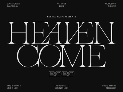 Heaven Come 2020 - Los Angeles, May 21-23 bethel music bethel event conference 2020 heaven come