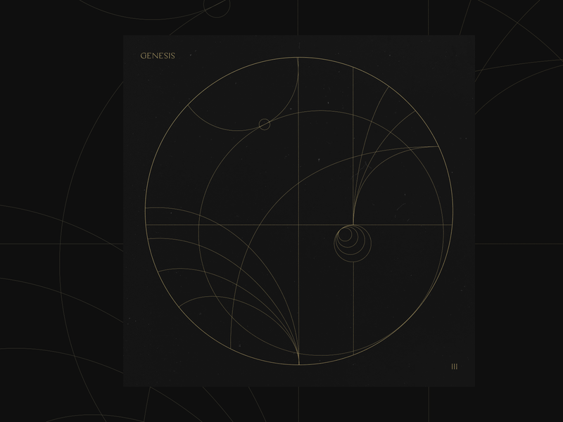 Without Words III - Genesis worship black foil design line art stroke gold album cover cover instrumental album music bethel bethel music