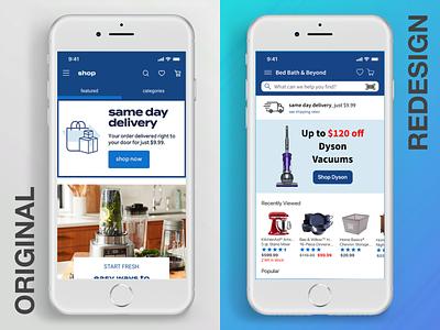 Bed Bath & Beyond App app mobile ux ui ecommerce design