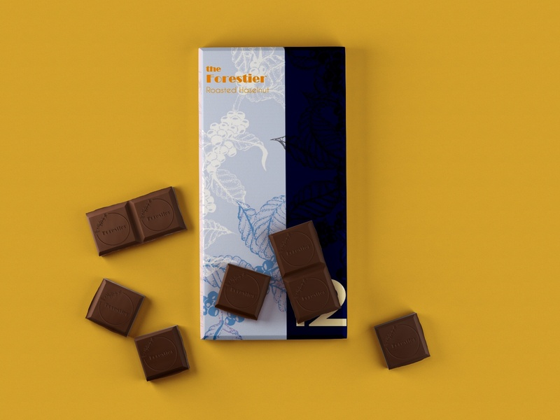The Forestier pattern vector typogaphy clean colour palette contrast minimalist logo chocolate packaging packaging chocolate brand identity graphic design graphicdesign illustraion branding