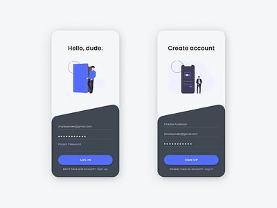Login Page Exploration app ui uidesign design ui design login design login screen login page mobile app design apps design app design