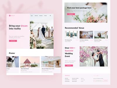 Weplan Wedding Planner Website Design wedding webpage uidesign webdesign