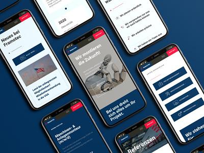 Framotec Industrial Assembly Webdesign design ui webdesign web corporate design branding