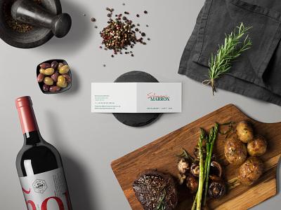 """Logo & Business Card Restaurant """"Schumanns Marron"""" berlin graphic design restaurant business card print logo branding"""