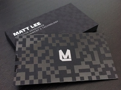 ByMattLee Business Cards print marketing creative developer design freelance business card branding