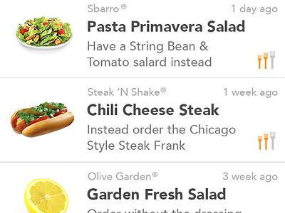 Foodtweeks iOS App Release ios app iphone food calories health