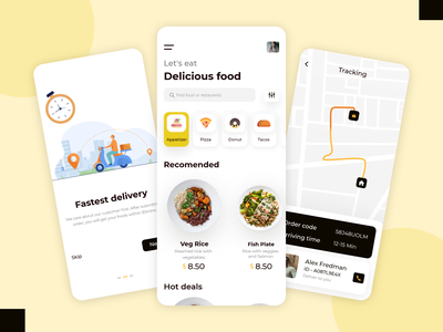 Food Delivery App vector design mobileappdesign app design recipe app ui app design ui ux pizza food and drink delicious chef app eating restaurant mobile app food delivery service food delivery delivery app