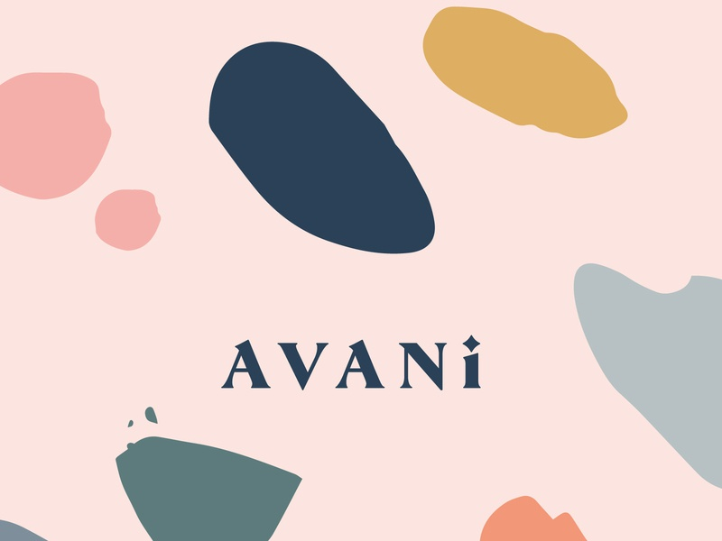 Avani - Natural Wellness colourful logo instagram stories instagram instagram template social media design social media templates social media socialmedia contemporary branding branding design brand identity colourful design illustration