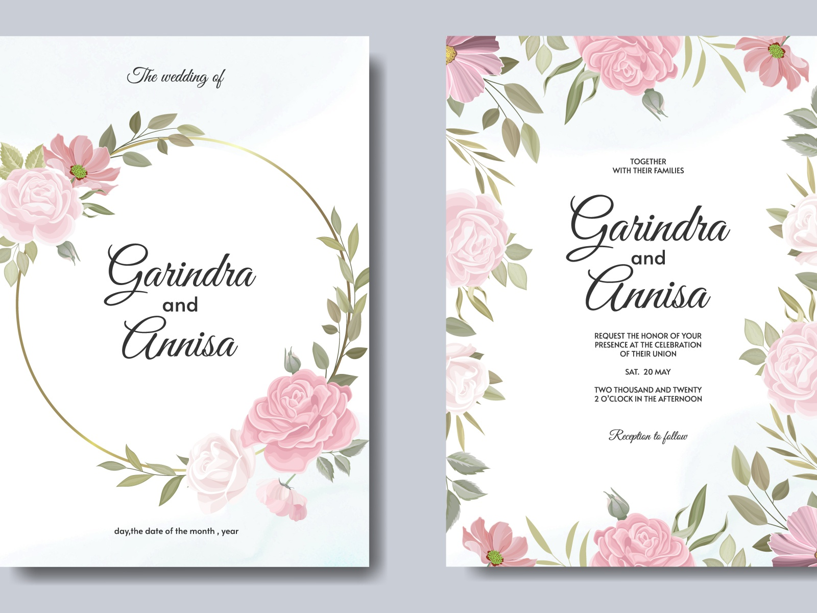Beautiful Floral Frame Wedding Invitation Card Template By Maria Nurince Dominggas On Dribbble,Beautiful Master Bedroom Designs For Girls