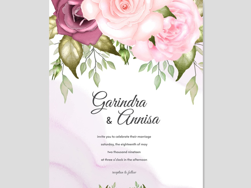 colourful wedding invitation card art celebration set vector vintage design decorative summer border graphic spring template invitation beautiful elegant floral card background wedding frame