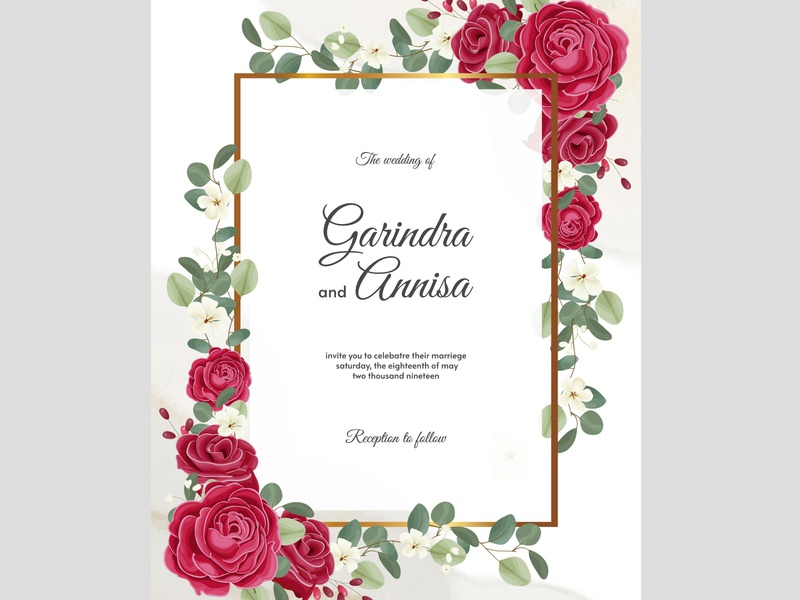 colourful wedding invitation card art celebration set vector vintage design decorative summer border graphic spring template invitation beautiful elegant floral card background wedding frame