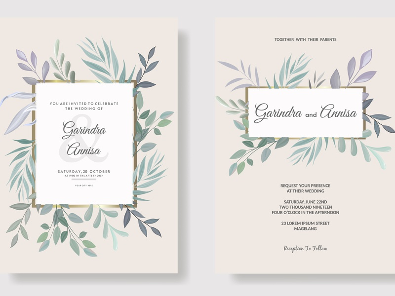 Beautiful floral frame wedding invitation card template vector decoration pattern luxury abstract ornament vintage royal border design flower elegant floral template label banner premium invitation wedding frame