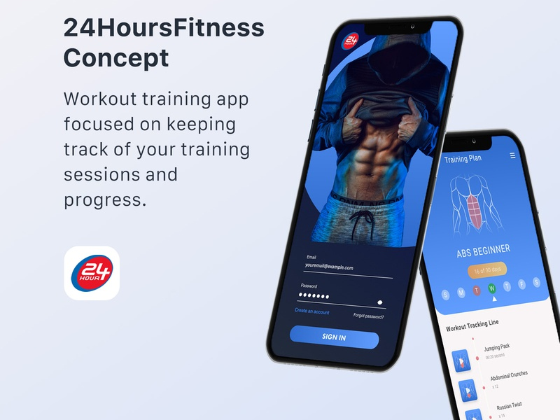 24HoursFitness Concept App P1 neon branding and identity fitness app gym mobile design training app workout neon light modern mobile concept design app ui ux responsive design productdesign branding adobe xd adobe photoshop