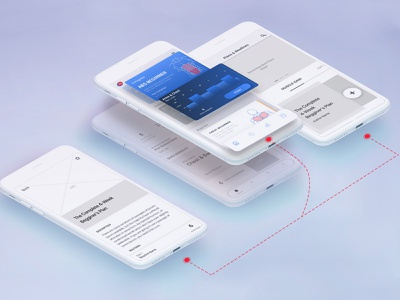 Izometric Mobile App Prototype Design process flow training fitness app gym wireframing wireframe design prototype izometric vector concept design modern app adobe xd ux ui productdesign design adobe photoshop