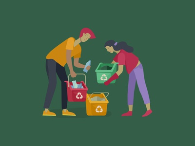 group recycling illustration