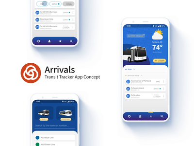 Arrivals feedbackplease maps prototype material google pixel case study dark mode interaction design rail bus public transportation transit debut ux ui animation portland
