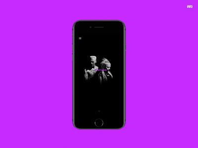 Die Antwoord Flow landingpage pnw ui uidesign framer framerjs mobile purple 100daysofui music rap dieantwoord