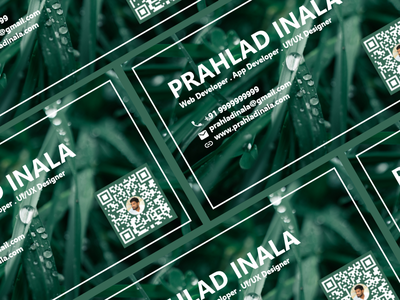 Business Card Design visiting card design visiting card business card design business cards prahladinala flat prahlad branding logo minimal illustration icon app design ui ux