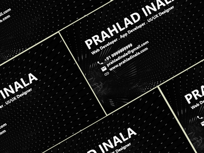 Business Cards Design web design business cards business business card visiting card visiting card design visiting cards business cards businesscard procreate pro prahlad inala prahlad logo minimal illustration icon app design ui ux