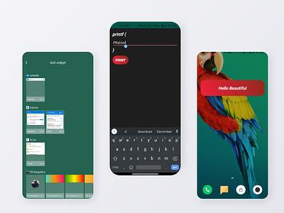 Widgets App Android profile product android procreate prahlad inala branding prahlad logo minimal illustration icon app ui design ux