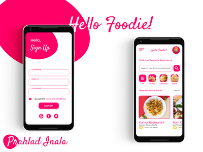 Hello Foodie! - A Simple Food Delivery App delivery food icon vector minimal illustration app design ux animation 3d motion graphics logo branding graphic design ui