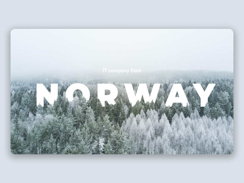 IT Company main page design norway main page landing page design design web design webdesign it company