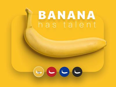 Banana has Talent photoshop figma principle video animation