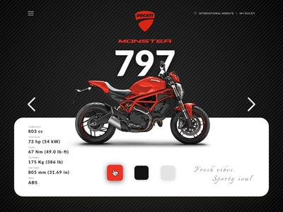 Ducati Redesign principle figma ducati video animation web