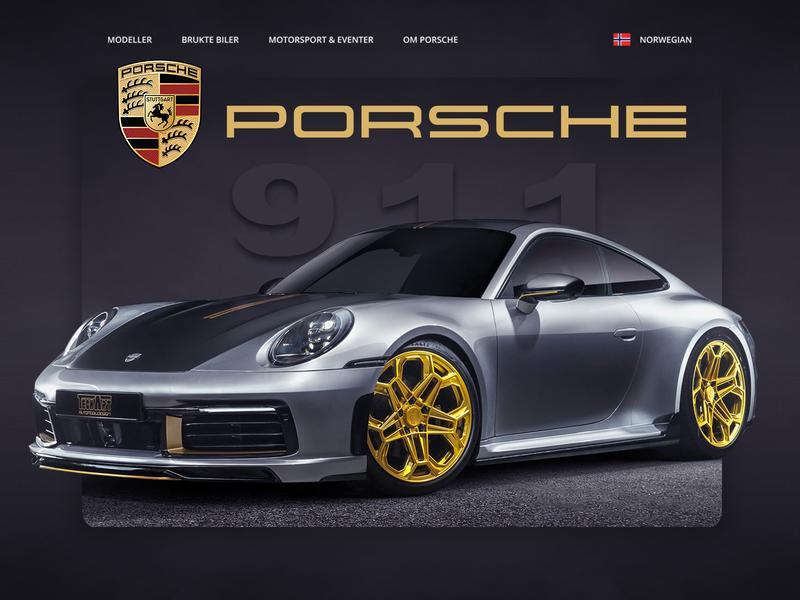Website redesign - Porsche 911 redesign website design web design branding design webdesign photoshop web norway porsche 911 porsche