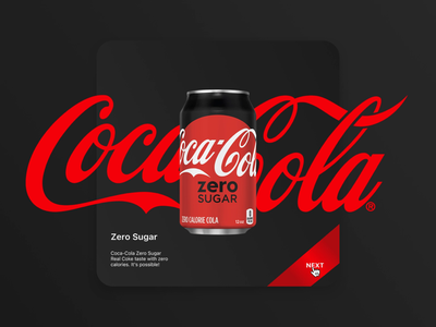 Coca-Cola Animation webdesign art concept web coca cola video animation