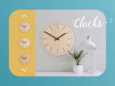 Clocks store animated page web design webdesign design clocks web photoshop figma principle animation