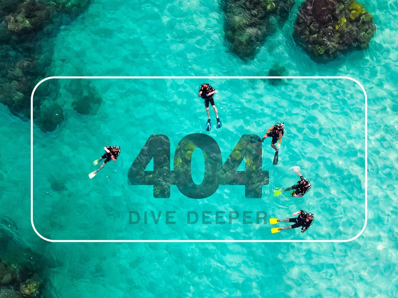 404 page design diving 404 error page 404 page webdesign design error web page 404