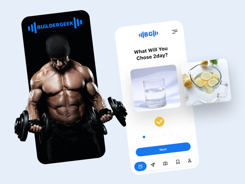 Fitness app concept fitness app diet bodybuilding fitness figma app design ios app