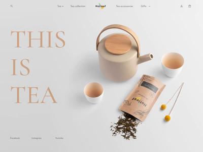 Online tea store | Landing page design norway caddiesoft design tea e-commerce design e-commerce shop e-commerce website landing page design webdesign