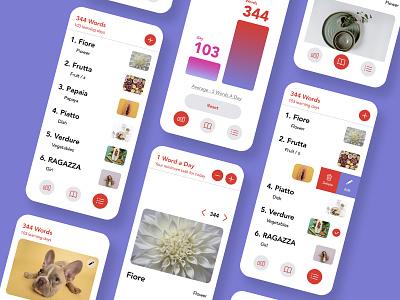 Vocabulary building app ios app design language learning language app vocabulary building app app design study