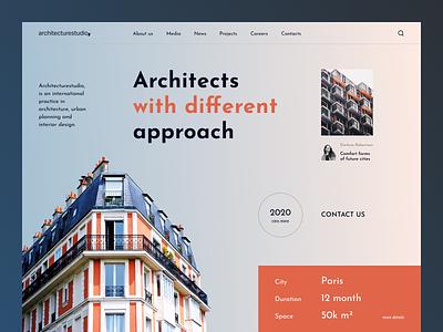 Architecture Studio Website caddiesoft exterior design interior design architecture design architecture website real estate web design figma webdesign
