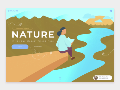 Nature - Interactive Tourist Portal norge web animation travel website travel guide norway webdesign illustration illustration design adobe illustrator illustrator