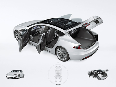 Tesla - Interactive Product View e-commerce 360 view product view 360 caddiesoft norge norway product viewer after effects animation web design webdesign 3d animation product page interactive design product visualization product view tesla aftereffects