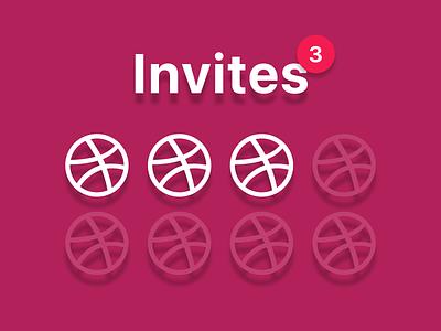 3 Invites 3 giveaway invites invite
