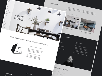Norway Interiors - Figma template + UI kit web design website template norge interior design figma webdesign norway caddiesoft
