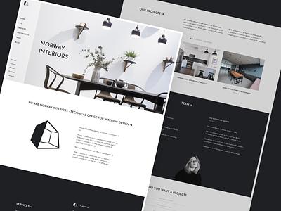 Norway Interiors - Figma template + UI kit web design website template norge interior design figma webdesign norway caddiesoft
