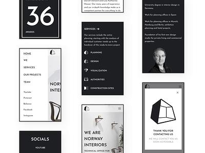 Interior design agency Figma template + UI kit (mobile) figma template animation templatedesign template design mobile design interior design figma norge norway caddiesoft
